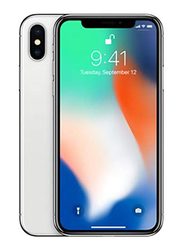 Apple iPhone X 256GB Silver, Without FaceTime, 3GB RAM, 4G LTE, Single SIM Smartphone