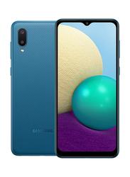 Samsung Galaxy A02 32GB Blue, 3GB RAM, 4G LTE, Dual Sim Smartphone, Middle East Version