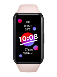 Honor Band 6 Smartwatch with Blood Oxygen and Heart Rate Monitor, Coral Pink