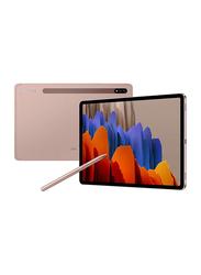 Samsung Galaxy Tab S7 128GB Mystic Bronze 11-inch Tablet, 6GB RAM, Wi-Fi + 4G LTE, UAE Version