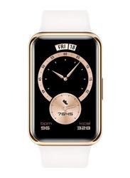 Huawei Watch Fit - 42mm Smartwatch, with Music Storage, GPS, Frosty White
