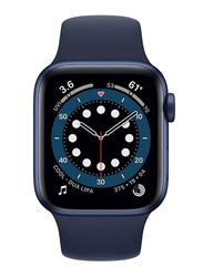 Apple Watch Series 6 - 40mm Smartwatch, GPS, Blue Aluminum Case with Deep Navy Sport Band