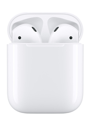 Apple AirPods Wireless In-Ear Noise Cancelling Earbuds with Mic and Charging Case, White