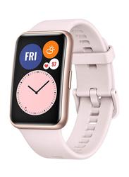 Huawei Watch Fit - 42mm Smartwatch, with Music Storage, GPS, Sakura Pink