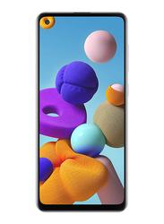 Samsung Galaxy A21s 128GB White, 4GB RAM, 4G LTE, Dual Sim Smartphone, UAE Version