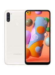 Samsung Galaxy A11 32GB White, 2GB RAM, 4G LTE, Dual Sim Smartphone, UAE Version