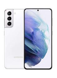 Samsung Galaxy S21 128GB Phantom White, 8GB RAM, 5G, Dual Sim Smartphone, Middle East Version