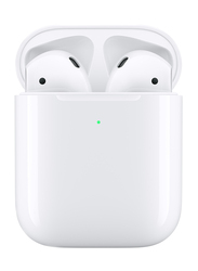 Apple AirPods Wireless In-Ear Noise Cancelling Earbuds with Mic and Wireless Charging Case, White