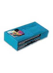 Fun Color 2-Ply Paper Napkins, 25cm, Turquoise, 100 Pieces