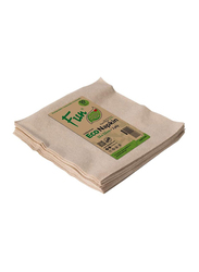 Fun Green Track Unbleached 2-Ply Eco-Napkins, 33 x 33cm, 50 Pieces