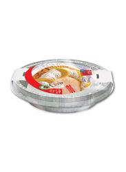 Fun 25cm 10-Piece Indispensable Disposable Aluminium Baking Mold, 788CC, Silver