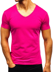Bouso Short Sleeve T-Shirt for Men, Small, Pink