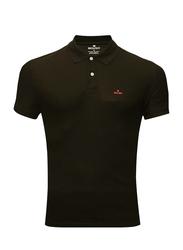 Bouso Short Sleeve Polo Shirt for Men, Small, Black