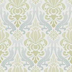 Brewster Wallpop Blue And Green Nouveau Damask, Multicolor
