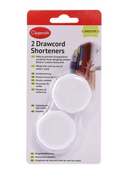 Clippasafe Drawcord Shorteners, 2 Pieces, White