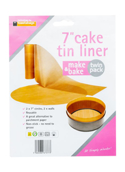 Toastabags 7-inch Non-Stick Cake Tin Liner, 28 x 7 x 1.5cm, Brown