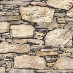 Brewster Wallpop Hadrian Stone Wall, Multicolor