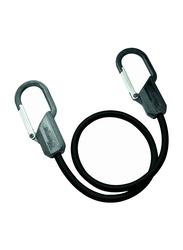 Masterlock Carabiner Hook Bungee 6/72, Black, 3.3 x 7.7 x 26 cm