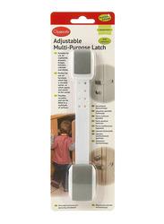 Clippasafe Adjustable Multi-Purpose Latch, White/Grey