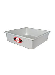 Fat Daddio'S 10 inch Square Cake Pan with Solid Bottom, 25.4x25.4x7.62 cm, Grey