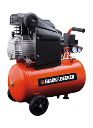 Black & Decker 2HP 8 Bar Compressor, Dark Orange/Black