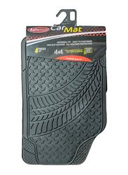 Autoplus Rugged Tread Car Mat, Black, 4 Pieces