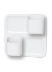 Honey Can Do 3-Piece Perch Start Kit, White