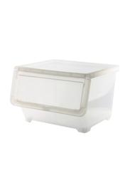 Keyway 20L Stack & Nest Storage Bin, White