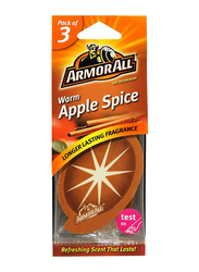 Armor All Warm Apple Spice Air Freshener, 3 Pieces