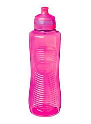 Sistema 800ml Twist 'N' Sip Gripper Water Bottle, Pink