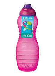 Sistema 700ml Twist 'N' Sip Plastic Davina Water Bottle, Pink