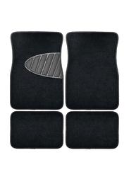 Armor All Heavy Duty Carpet Floor Mat with Heel Pad, Black, 4 Pieces, 1.3x17.3x26 Inch