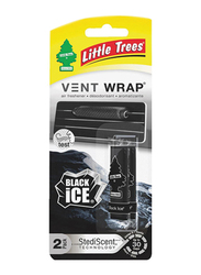 Little Trees Vent Wrap Black Ice Air Freshener, 2 Pack