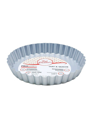 Fat Daddio'S 6.5 inch Fluted Round Tart Pan with Removable Bottom, 16.51x16.51x2.54 cm, Grey