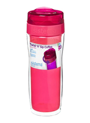 Sistema 490ml Twist 'N' Sip Coffee To Go Travel Mug, Pink