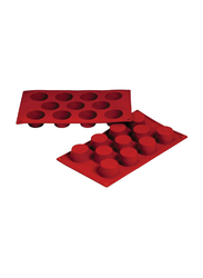 Fat Daddio'S Rectangle Muffin Pan, 30.48x17.78x7.62 cm, Red