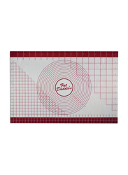 Fat Daddio'S Silicone Fondant Mat and Box with Measuring, 60.96x91.44x0.25 cm, Red/White