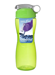 Sistema 645ml Hourglass Water Bottle, Green