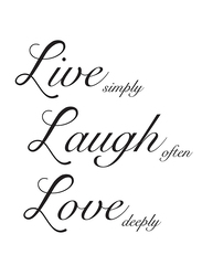 Brewster Wallpop Live Laugh Love Wall Quote Decals, Black