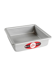 Fat Daddio'S 7-inch Square Cake Pan with Solid Bottom, 17.78 x 17.78 x 7.62cm, Silver