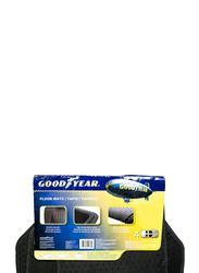 Goodyear Rubber Carpet Flat Mat, Black, 4 Pieces