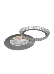 Fat Daddio'S 8 inch Fluted Round Tart Pan with Removable Bottom, 20.32x20.32x2.54 cm, Grey