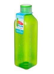 Sistema 1 Ltr Plastic Square Bottle, Green