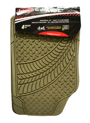 Autoplus Rugged Tread Car Mat, Beige, 4 Pieces