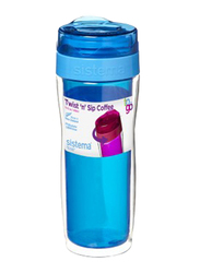 Sistema 490ml Twist 'N' Sip Coffee to Go Travel Mug, Blue