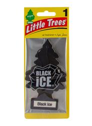 Little Trees Black Ice Paper Air Freshener, Black
