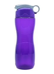 Sistema 645ml Hourglass Plastic Water Bottle, Purple