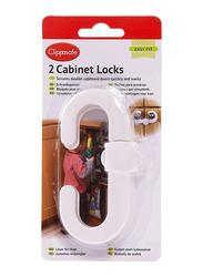 Clippasafe Cabinet Lock, White