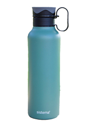 Sistema 600ml Double Walled Stainless Steel Bottle, Green