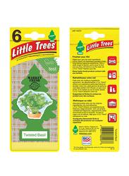 Little Trees Twisted Basil Card Air Freshener, Green